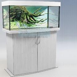 Аквариум панорамный Аквас (Aquas) 130 литров Белый глянец