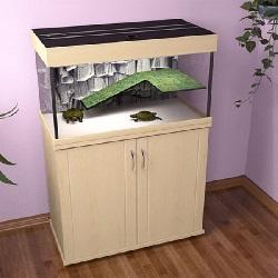 Аквариум для черепах 150 литров закрытый Зелаква