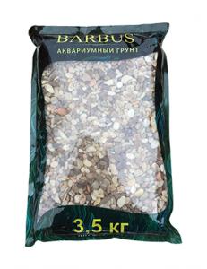 Грунт BARBUS речная галька 2-5 мм. 3,5 кг.