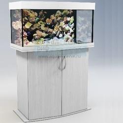 Аквариум панорамный Аквас (Aquas) 100 литров Белый глянец