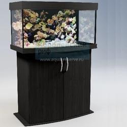 Аквариум панорамный Аквас (Aquas) 100 литров Черный