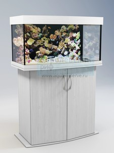 Аквариум с тумбой панорамный Аквас (Aquas) 100 литров