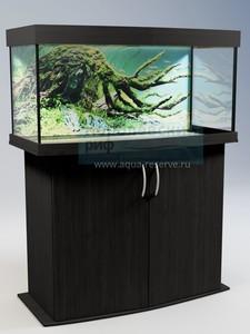 Аквариум с тумбой панорамный Аквас (Aquas) 130 литров