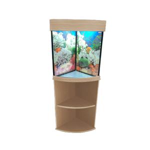 Аквариум Аквас угловой 40 литров с тумбой